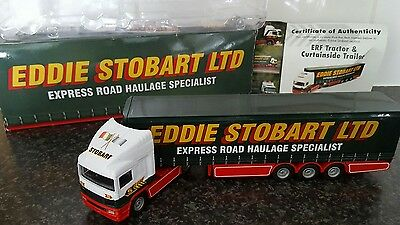 Corgi atlas editions eddie stobart ltd ERF with Curtainside Trailer