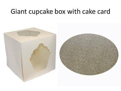 "10 inch Giant Cupcake Box and board    FAST DESPATCH   10 x 10 x 10"" Deep"