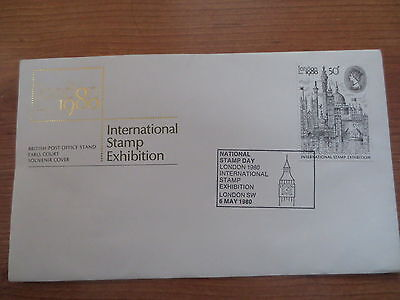 Set of 8 souvenir covers from London 1980 International Stamp Exhibition.