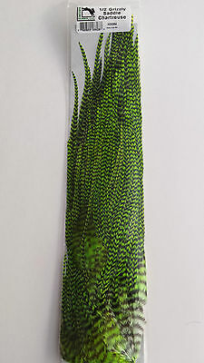 """HARELINE DUBBIN 1/2 GRIZZLY SADDLE """" CHARTREUSE """" very nice quality"""