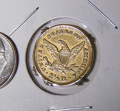 Liberty $2.50 Gold Quarter Eagle Fancy Engraved Obverse Love Token (2too)