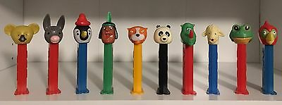 Merry Melody Makers Set Of 10 Different Loose Vintage Pez Dispensers!