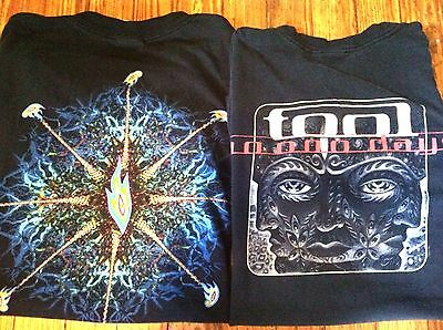Lot of 2 TOOL T Shirts BLACK Concert TOUR Band Music HEAVY METAL Medium/ Small