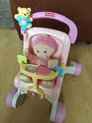 fisher price pram walker And Baby 1st Doll