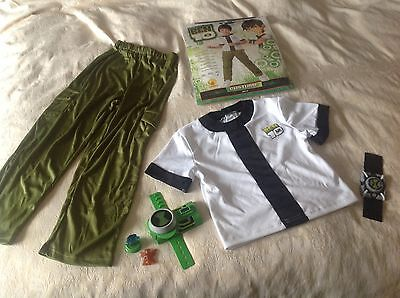 Rubies Ben 10 Dressing Up Costume, 7-8 Years  with Extra Omnitrix, Worn Once