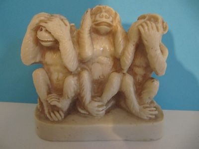 see no evil speak no evil hear no evil  monkeys