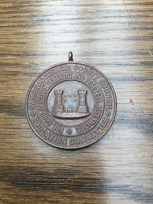 Cambridgeshire County Council Education Committee School Attendance Medal 1905