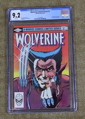 Wolverine #1 (Sep 1982, Marvel) Limited Series by Frank Miller CGC 9.2 New Case