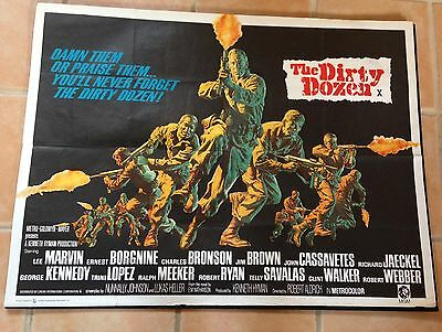 Dirty Dozen UK Quad Original Film Cinema Movie Poster