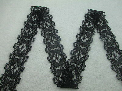 Beautiful black lace embroidered stretch lace 3 cm wide and 10 yards long