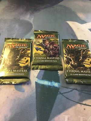 Magic the Gathering-MTG-Eternal Masters Booster Packs x 3