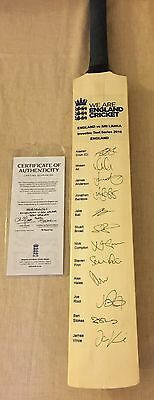 Signed England Cricket Bat With Authentication
