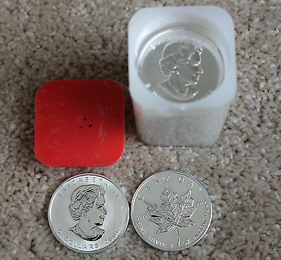 Roll(20) 2006 Canada $5 .9999 Fine Silver Maple Leaf Coins- Proof Like Strike-