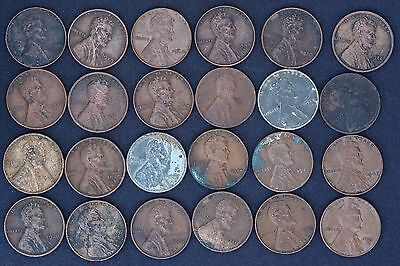 Job Lot Collection Of 24 Usa One Cent Coins