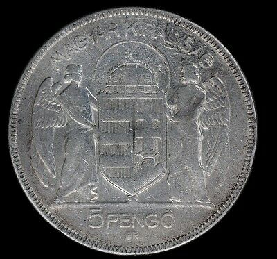 HUNGARY, 5 Pengo, 1930, Budapest, Silver Coin