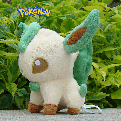 "Pokemon Plush Toy Leafeon 5"" Nintendo Game Cuddly Soft Stuffed Animal Doll A3"