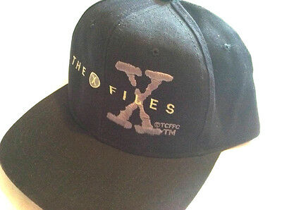 Rare Vtg THE X FILES Crew SNAPBACK HAT Cap TV SHOW Promo 90's FILM Movie