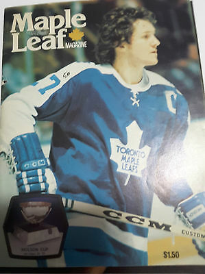 Toronto Maple Leafs Vintage1976 Program - Clevland Barons