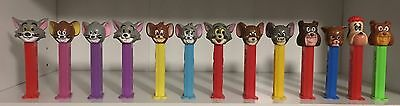 Tom & Jerry Set Of 13 Different Loose Vintage Pez Dispensers!