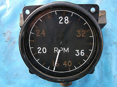 ww2 raf early spitfire hurricane 4000 rpm instrument