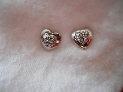 Boucles d'oreilles or blanc 18 carats éclats diamants