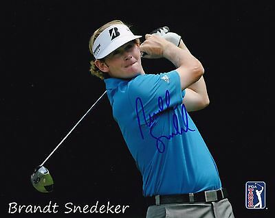 Brandt Snedeker #2 autographed 8x10 Photo Free Shipping
