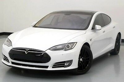 2013 Tesla Model S  2013 Tesla Model S P85 Performance Pano Roof White Used Electric