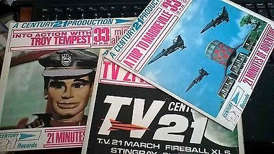 RARE set of 3 mini albumS 33rpm 21 themes-,troy tempest- a trip to marineville-