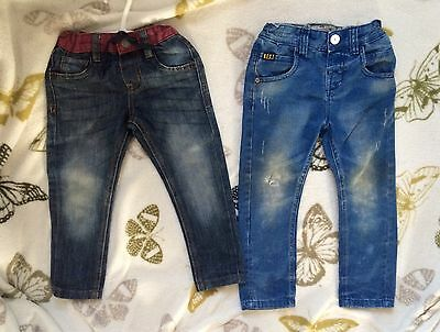 Two Pairs Of Boys Jeans Next & Primark 2-3 Years, VGC!