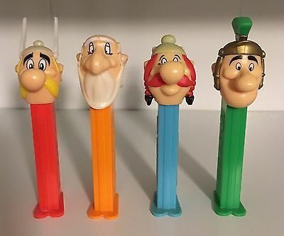 ASTERIX - SET OF 4 DIFFERENT LOOSE 1990's PEZ DISPENSERS! NEW! MINT!