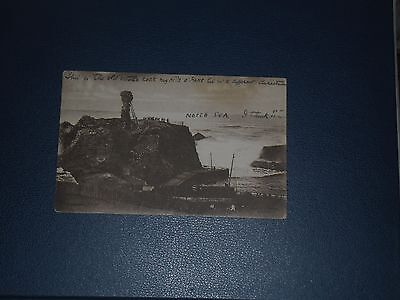 Postcard A Stormy Day Dunbar Postmarked 1920