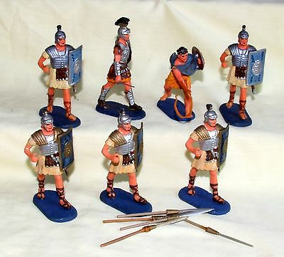 elastolin rare ancient roman infantry fantastic condition plastic soldiers
