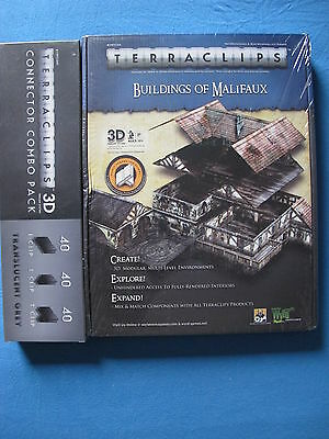 Terraclips Buildings of Malifaux + Connector Combo Pack