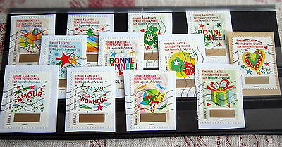 Lot 12 Timbres 2016 -  Timbres A Gratter
