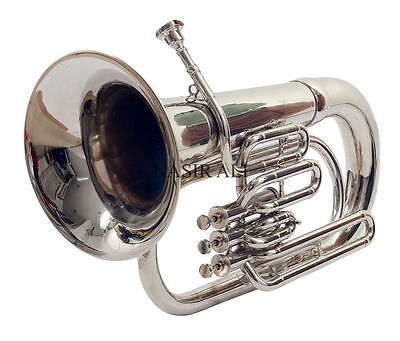 Bb EUPHONIUM CHROME PLATED COMES WITH HARD CASE+MP+SPRING SET+SHIPPING FREEEEEEE