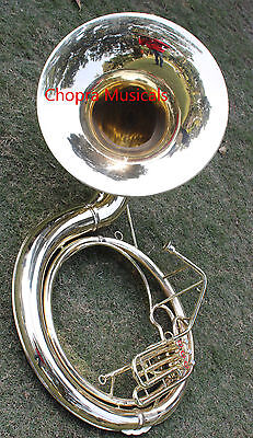 Biggest Sousaphone Gold Lacquer Pure Brass Made 25'' With Free Mouth Pc&Case Box