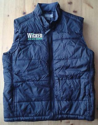 """2010-2011 Company"" Wicked the Musical cast padded sleeveless jacket size M 40"""