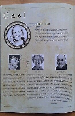 Kerry Ellis, Oliver Tompsett + 2 signed Wicked the Musical programme 2008