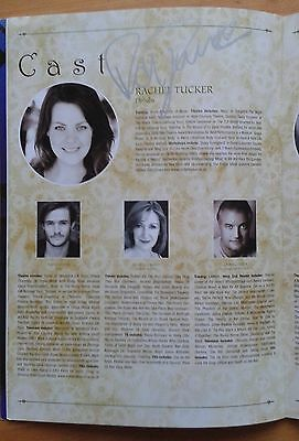 Rachel Tucker signed Wicked the Musical programme from 2011