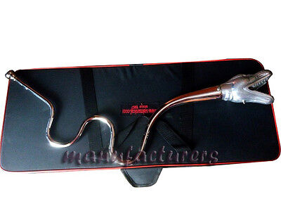 New Indian Dragon^face_Chrome Brass Finish Bb Pitch Great Sound With Hardcase