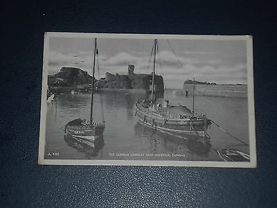 Postcard The Dunbar Lifeboat And Harbour Postmarked 1954