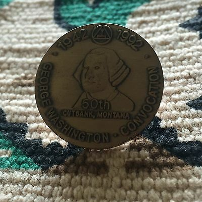 George Washington Convocation 1942 - 92 50th Cutback Montana Lapel Hat Pin