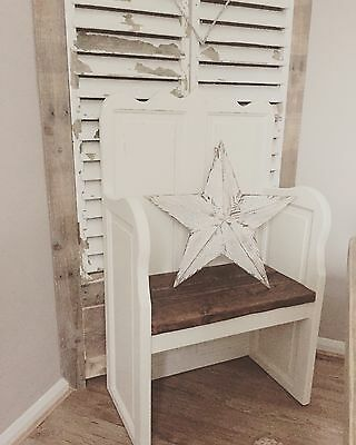 Beautiful Shabby Chic Bench Settle Pew