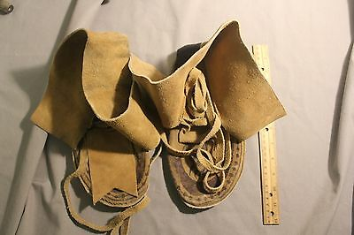 native american indian moccasins us size 9 or 10 very nice deer leather