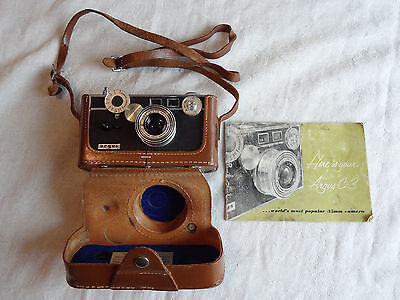 Vintage Argus C3 35mm Film Camera with Owners Manual