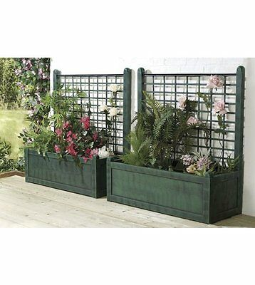 1 pack of 2 (1mt green Trellis Planters)