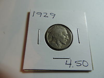 1929 US American Nickel coin A508