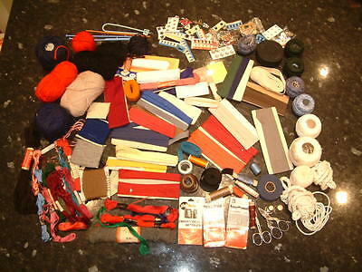 Job Lot / Assortment Of Embroidery / Sewing / Knitting  Items Etc.