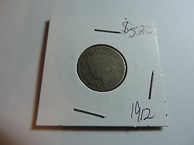 1912 US American Nickel coin A483
