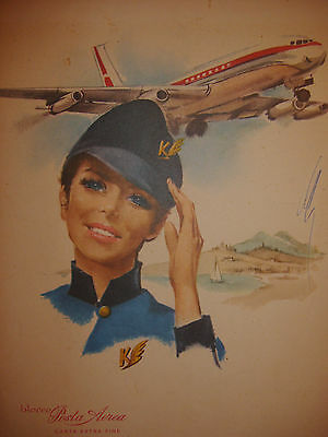 Old ~Collectable Italian Air~mail pad ~ paper~poster